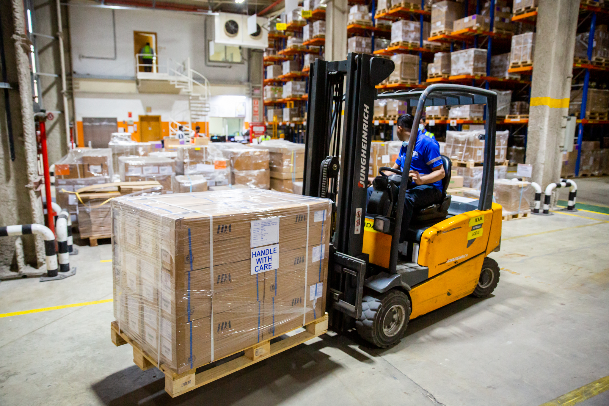 Over 200 pallets with kits shipped to Afghanistan